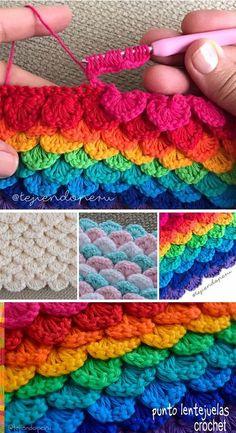 Sequins Stitch Crochet Pattern Tutorial #crochetstitches