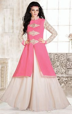 Picture of Marvelous Fuchsia and Pink Color Designer Gown ...