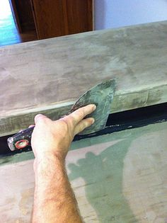 DIY ARDEX Concrete Countertops. Right over the top of Formica. Awesome.