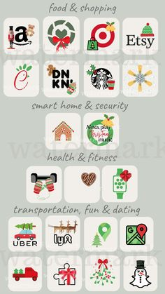 Christmas iPhone App Icons ios 14 Aesthetic App Covers | Etsy Iphone App Design, Iphone App Layout, Iphone Home Screen Layout, Christmas Apps, Christmas Icons, Christmas Phone Wallpaper, Iphone Wallpaper App, Mobile Wallpaper, Ios App Icon