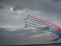 Red Arrows Formation Flying Jersey Channel Islands by Alex Fearn, via Flickr