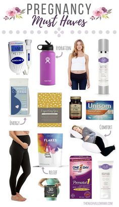 Must have pregnancy items. What you need for an easy and enjoyable pregnancy!