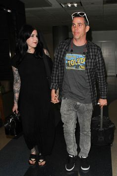 Kat Von D and Steve O Are Seen at LAX