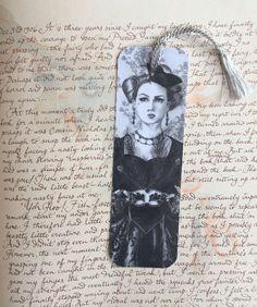 Alice In Wonderland Bookmark Queen of Hearts Bookmark Fantasy Art Gothic Art Queen Bookmark by deannadavoli on Etsy