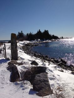 After the storm a crystal clear day. King Phillips Trail , East Boothbay, ME