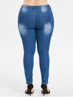 Tallas Grandes Mariposa Bordado Pantalones Vaqueros Rasgados Ladies Jeans And Tops, Jeans Women, Spandex, Curvy, Butterfly Embroidery, Skinny Jeans, Denim Pants, High Waist, Pencil