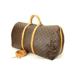 perfect for long weekends  Louis Vuitton keepall bandouliere 60  excellent condition with strap  the largest of the keepall collection  asking $980  comment for more information or to purchase this item