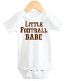 Football Baby Girl Onesie