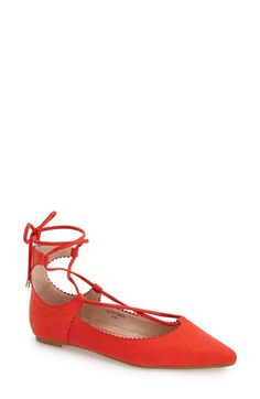 Topshop+'Finest'+Pointy+Toe+Ghillie+Flat+(Women)+available+at+#Nordstrom