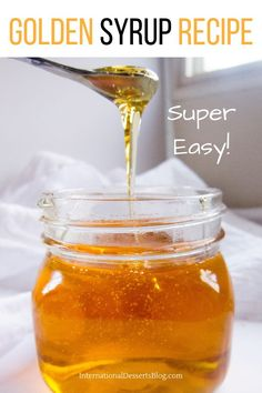 Why spend fortune on Golden Syrup at World Market when homemade is cheaper and better! What is Golden Syrup? It's used in so many baking re. How To Make Syrup, How To Make Homemade, Food To Make, Irish Recipes, Sweet Recipes, Sauce Recipes, Baking Recipes, Syrup Recipes, Treacle Tart
