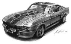 Mustang Pin Up | Mustang GT 500 Eleanor by Lowrider-Girl