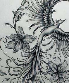 Phoenix Rising Original Art Sample by jennifermckayhiggins on Etsy