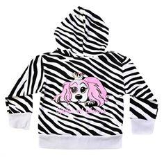 Infant Girls' Zebra Print Zipper Hoodie.