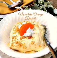 Mandarin Orange Dessert A delicious, easy orange flavored dessert with a sweet and salty edge to it due to the crushed Ritz Cracker bottom layer. Cool and delicious, great for any holiday gathering.