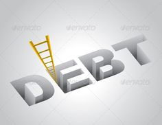 Climbing Out of Debt Concept  #GraphicRiver