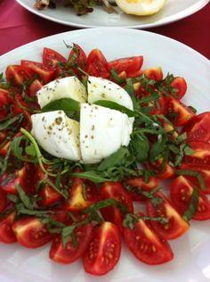 Burrata Cheese, Tomatoes, & Basil Plus Olive Oil