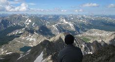 Ken overlooking the Collegiate Peaks