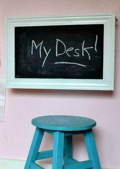 Flip-down wall desk