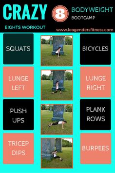 Bodyweight Bootcamp: Crazy Eights Workout — Lea Genders Fitness