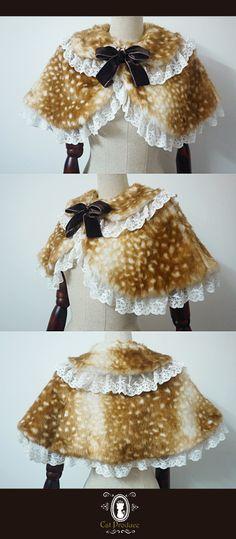 [Manufacturing] sweet lolita cat Bambi 3 colors plush fur shawl - Taobao