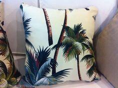 Palm Tree decorative cushion. $40.00, via Etsy.