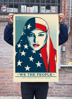 "Shepard Fairey, graphic artist, his project ""We the People"" for President-elect Donald Trump's inauguration."