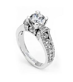From Michael M. Collection Michael M Handcrafted pave and channel set diamond ring with bezel accents