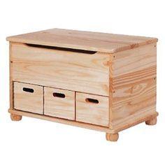 Baúl de madera 3 CAJONES