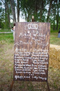 rustic wooden wedding sign