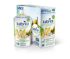 Kabrita Natural Toddler Yogurt & Fruit Pouch, Made With Goat Milk - Banana & Natural Vanilla Bean, 4 Oz (Pack of 6) - http://goodvibeorganics.com/kabrita-natural-toddler-yogurt-fruit-pouch-made-with-goat-milk-banana-natural-vanilla-bean-4-oz-pack-of-6/