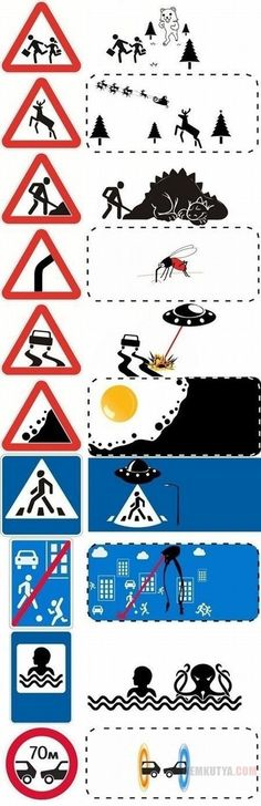 Funny pictures about Popular Road Signs Uncropped. Oh, and cool pics about Popular Road Signs Uncropped. Also, Popular Road Signs Uncropped photos. Funny Images, Funny Photos, Art Images, Funny Road Signs, Funny Jokes, Hilarious, Humor Grafico, Street Signs, Funny Pins
