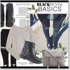 Black Denim and Combat boots!