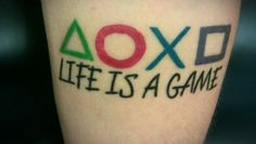 Life is a game. Playstation