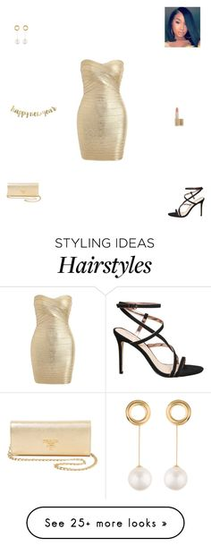 """""""new years eve"""" by synclairel on Polyvore featuring HUGO, Joanna Laura Constantine, L'Oréal Paris, Prada, Winter, cute, casual and ootd"""