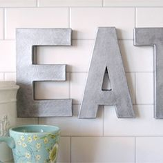 How to create faux zinc letters!