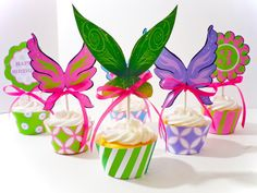 Pixie Tinkerbell Printable Party Cupcake Wrappers and Toppers. $10.00, via Etsy.