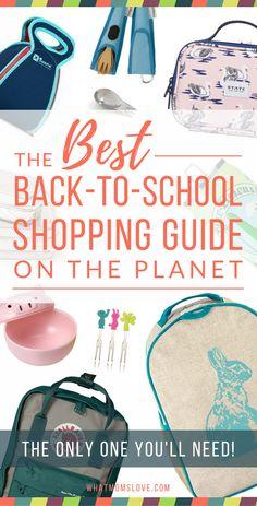 Best Back To School Guide - Backpacks, Lunch Bags, Bento Boxes, and more! For Preschoolers, Grade Schoolers, Tweens and Teens via @whatmomslove