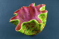 "2014 Signed Chihuly Workshop Studio Edition Art Glass ""Zinnia Macchia"""