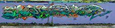 Monster by Dem189 by Startape Photographe, via Flickr Gravity Art, Graffiti I, Aquarium, Street Art, Around The Worlds, Painting, France, Image, Goldfish Bowl