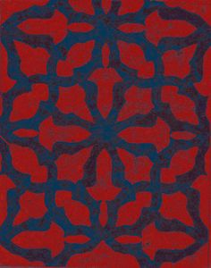 Haveli I Rug By Uday Dhar Royal Red Blue