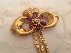 Beautiful Gold Harry Iskin Brooch Pin by nanciesvintagenest, $45.00