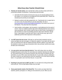 What Every New Teacher Should Know - FREE TpT download