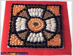 НЕОБЫЧНАЯ МОЗАИКА: Что можно сделать из природного материала? Mosaic Designs, Mosaic Patterns, Mosaics For Kids, Easy Crafts, Arts And Crafts, Seed Art, Diy Tie Dye Shirts, Japanese Artwork, Craft Club