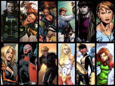 WHO IS WHO IN THE X-MEN(VII) multiple man, siryn, m, shatterstar, rictor, wolfsbane, layla miller, strong guy, longshot, husk, prodigy, trance