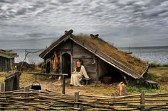 The story of the Vikings who colonised Greenland during the early Middle Ages. Medieval Village, Medieval Houses, Medieval Life, Medieval Fantasy, Viking House, Viking Life, Viking Culture, Ragnar Lothbrok, Old Norse
