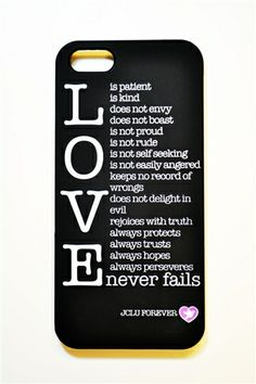 1st Corinthians13 iPhone Case—Reminding You What's Truly Important « JCLUForever