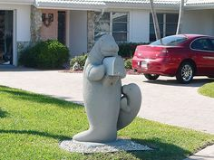 I have seen this mailbox in Florida - if not this house, another house with it :)