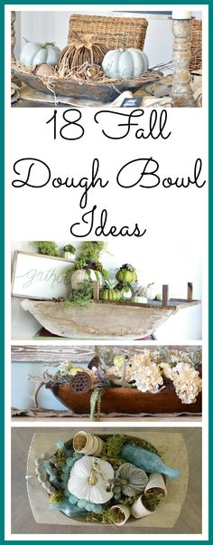 18 Fall Dough BowlsI wanted a dough bowl for the longest time.  About two years had past of me drooling and awing over all of the pretty styled dough bowls on Instagram and Pinterest.  Those ladies make decorating them look so easy. When I finally got my dream bowl from Jennifer of Cottage…