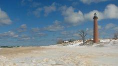 Little Sable Lighthouse In Winter by StevenLPierce, via Flickr