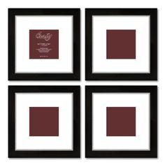 Craig Frames 1WB3BK 9 by 9-Inch Black Picture Frame, White Mat with 5 by 5-Inch Opening, 4-Piece Set Craig Frames Inc. http://www.amazon.com/dp/B00IGHBLO8/ref=cm_sw_r_pi_dp_HNL0tb1RSNEQGPB8